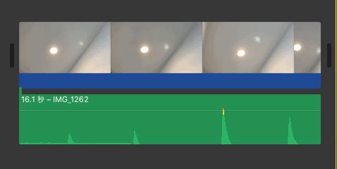 iMovie 背景ノイズ除去適用後